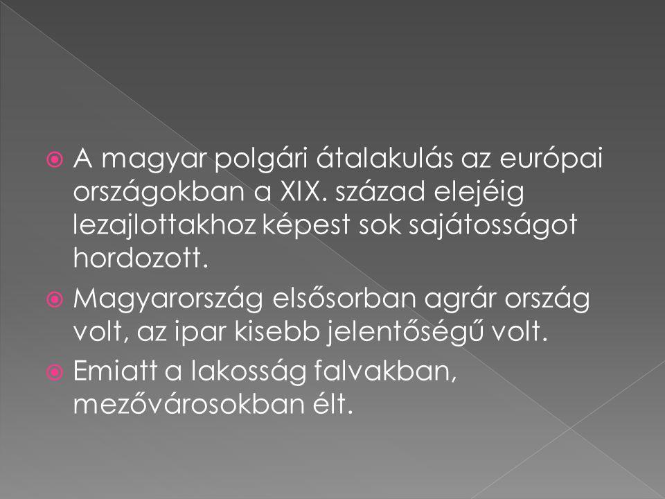 A magyar polgári átalakulás az európai országokban a XIX