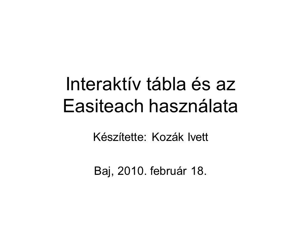 Interaktív tábla és az Easiteach használata