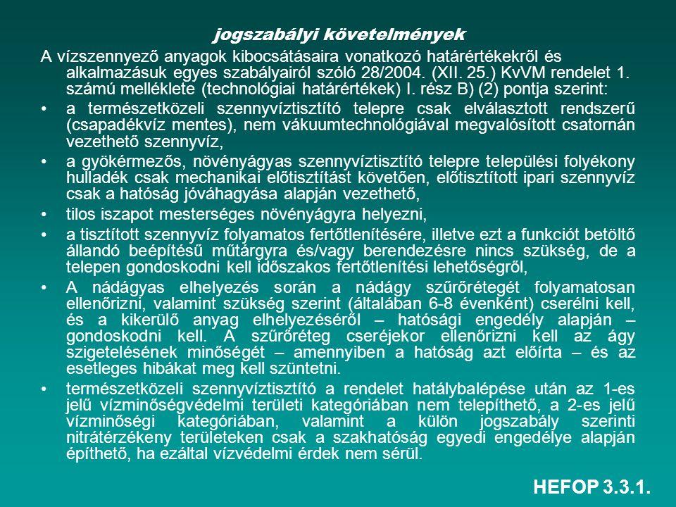 jogszabályi követelmények