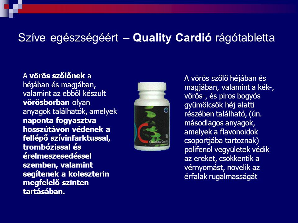 Szíve egészségéért – Quality Cardió rágótabletta