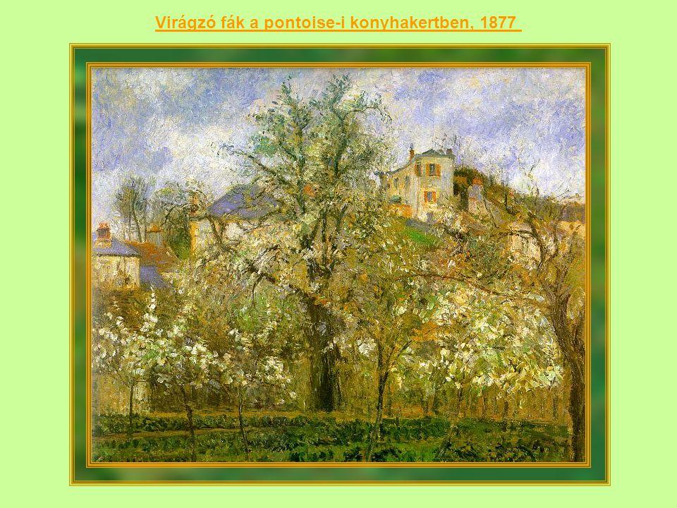 Virágzó fák a pontoise-i konyhakertben, 1877