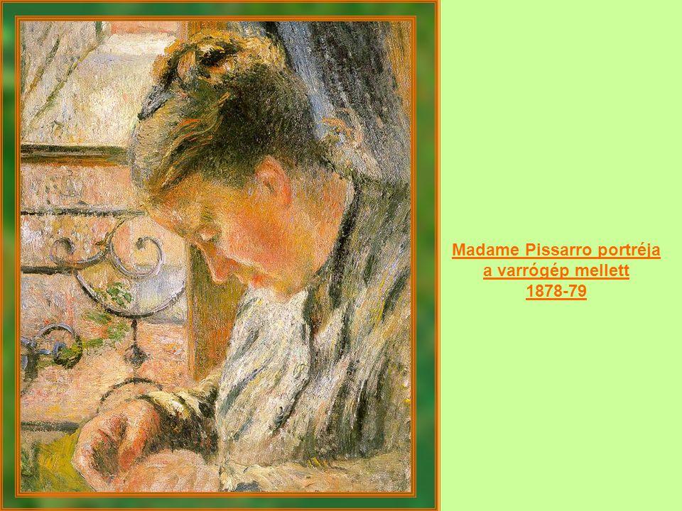 Madame Pissarro portréja a varrógép mellett