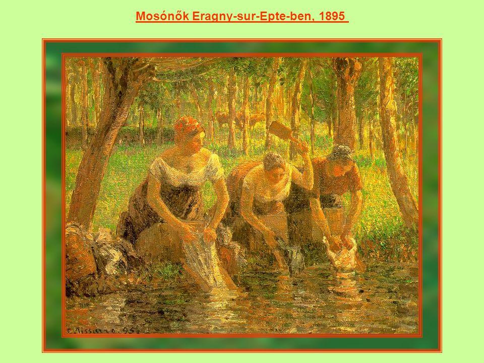 Mosónők Eragny-sur-Epte-ben, 1895