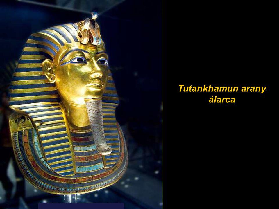 Tutankhamun arany álarca Golden funerary mask of Tutankhamun