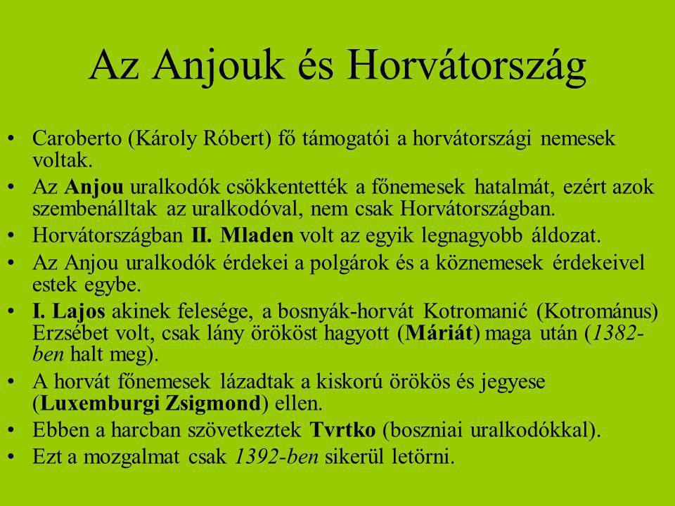 Az Anjouk és Horvátország