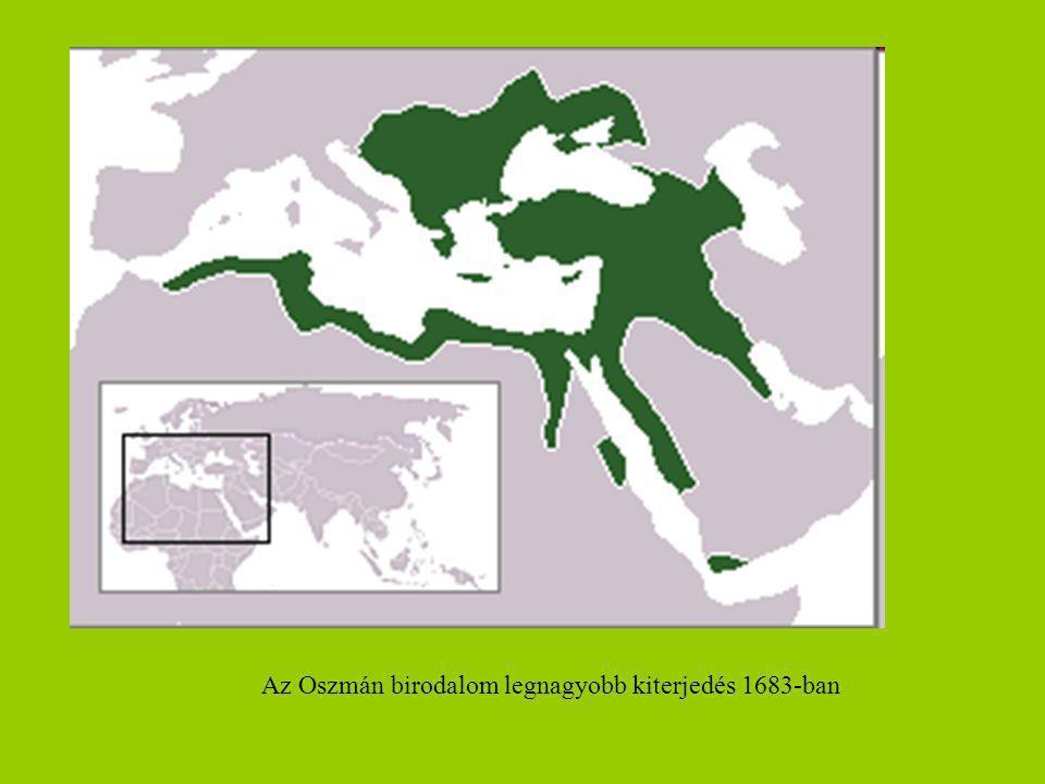 Az Oszmán birodalom legnagyobb kiterjedés 1683-ban