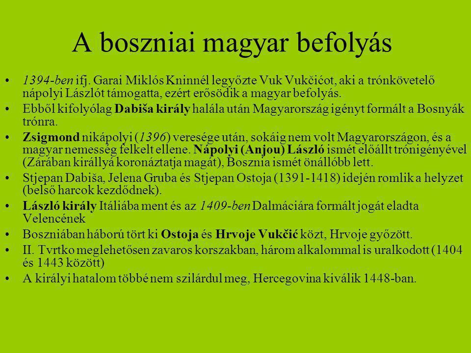 A boszniai magyar befolyás