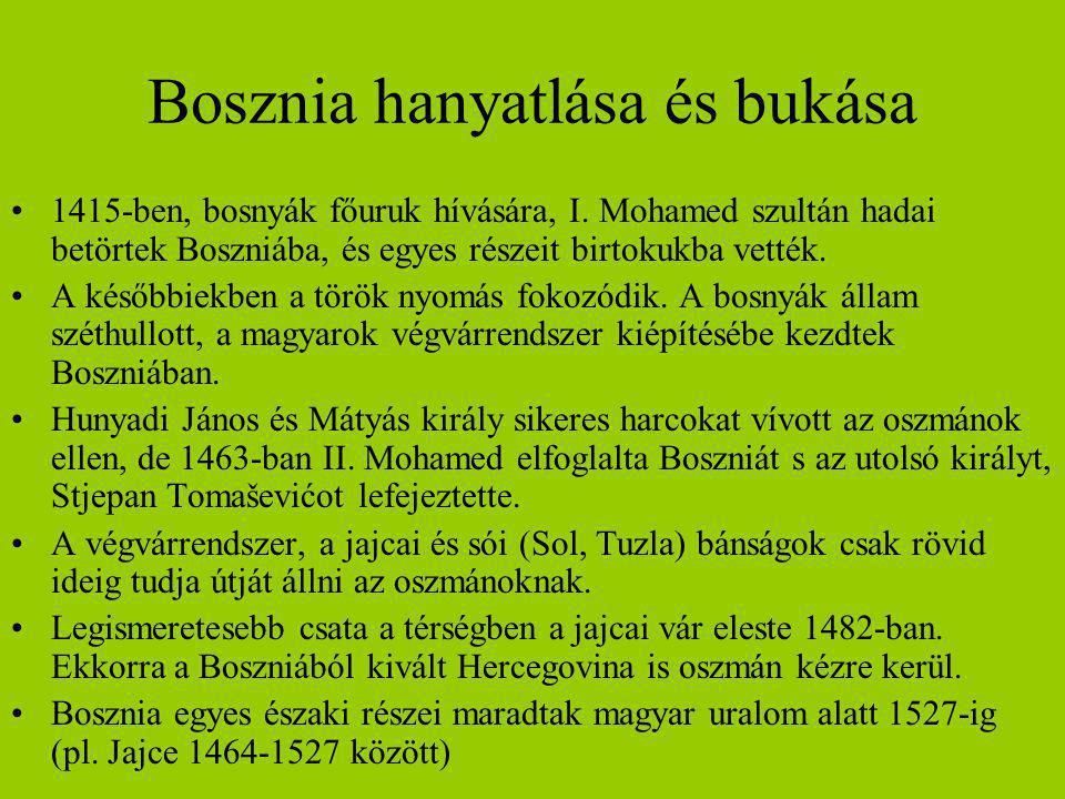 Bosznia hanyatlása és bukása