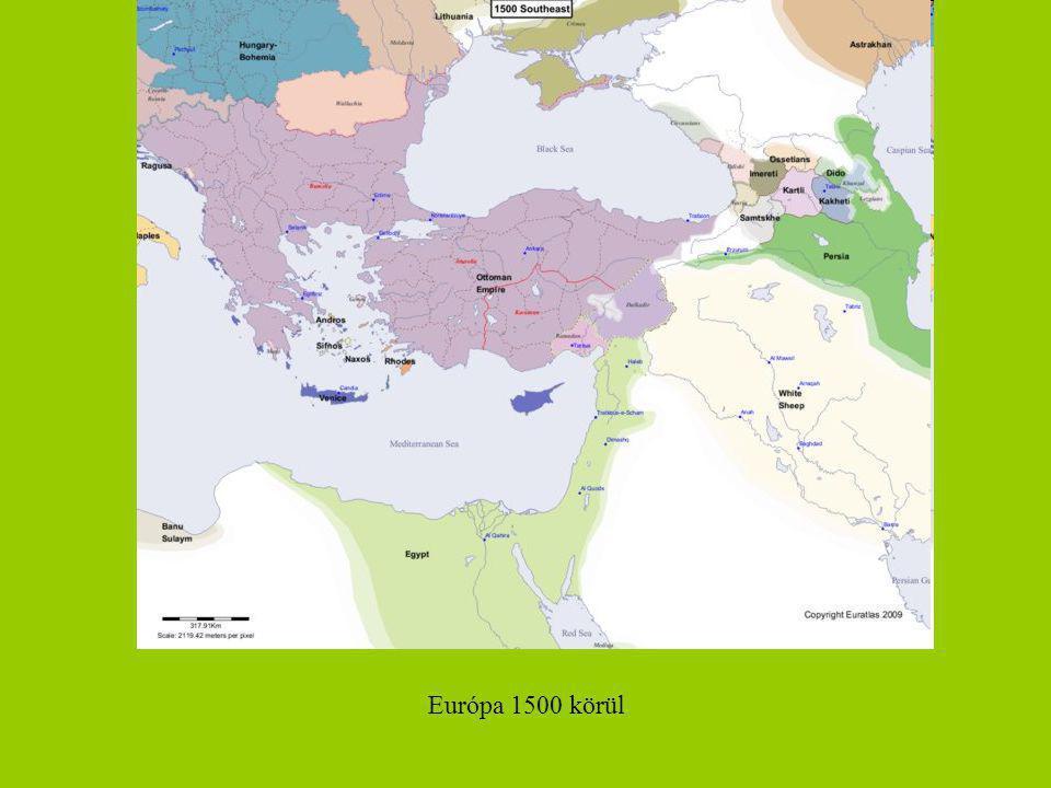 Európa 1500 körül