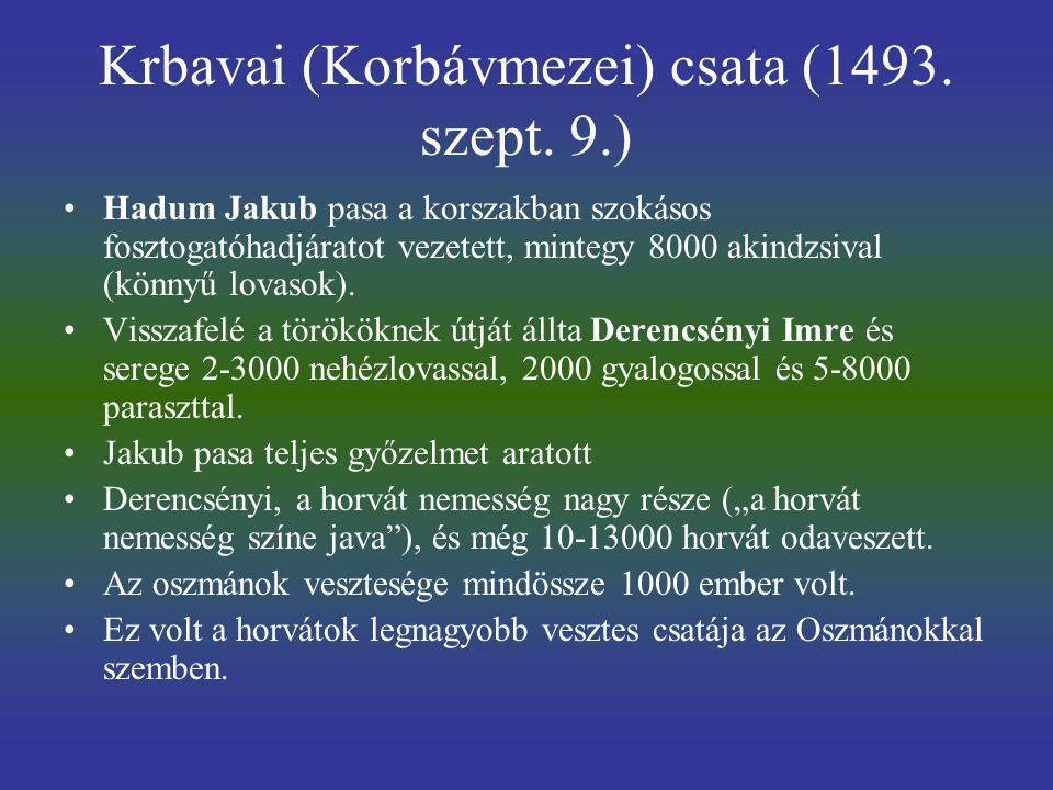 Krbavai (Korbávmezei) csata (1493. szept. 9.)