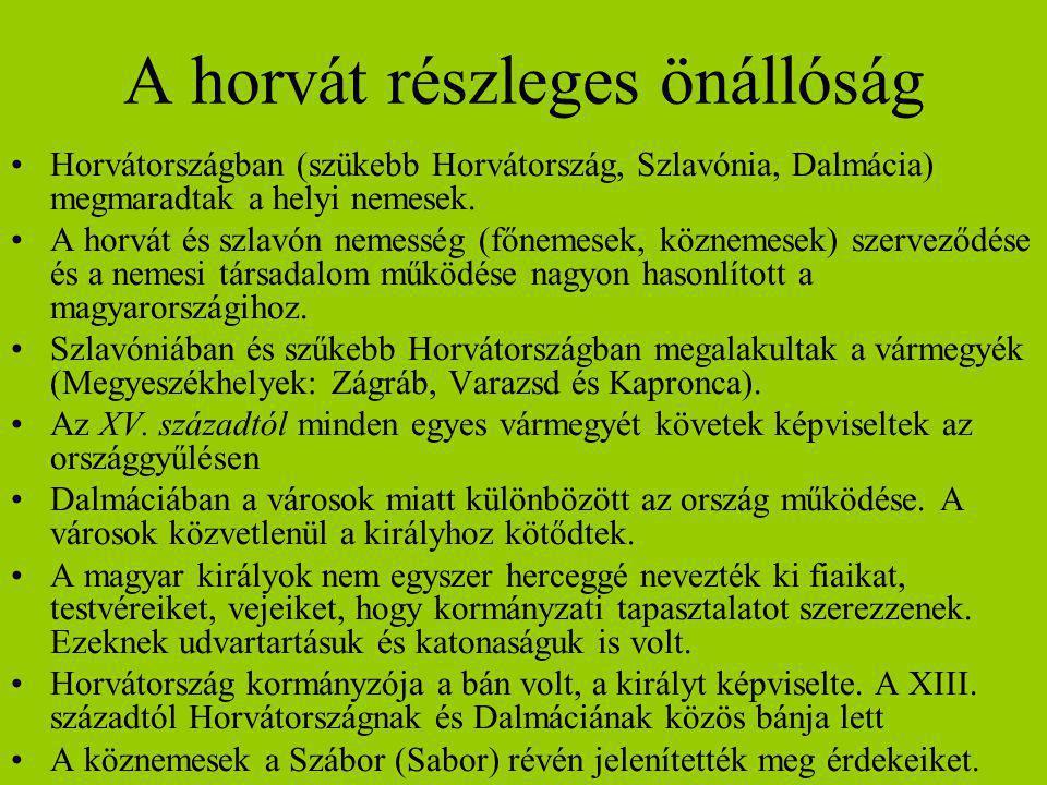 A horvát részleges önállóság