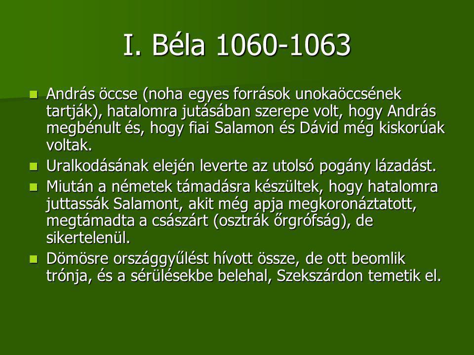 I. Béla 1060-1063