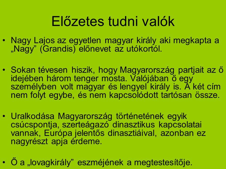"""Előzetes tudni valók Nagy Lajos az egyetlen magyar király aki megkapta a """"Nagy (Grandis) előnevet az utókortól."""