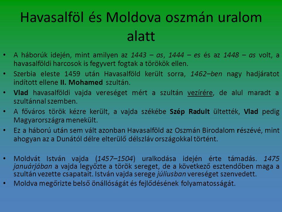Havasalföl és Moldova oszmán uralom alatt