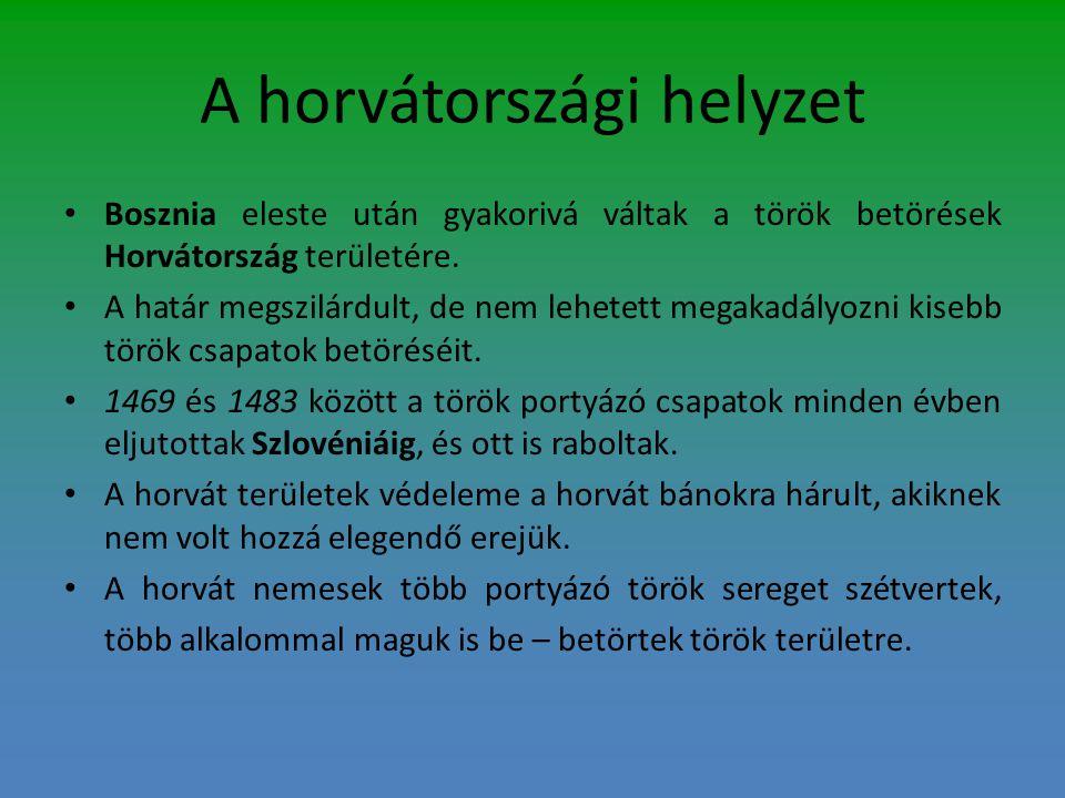 A horvátországi helyzet