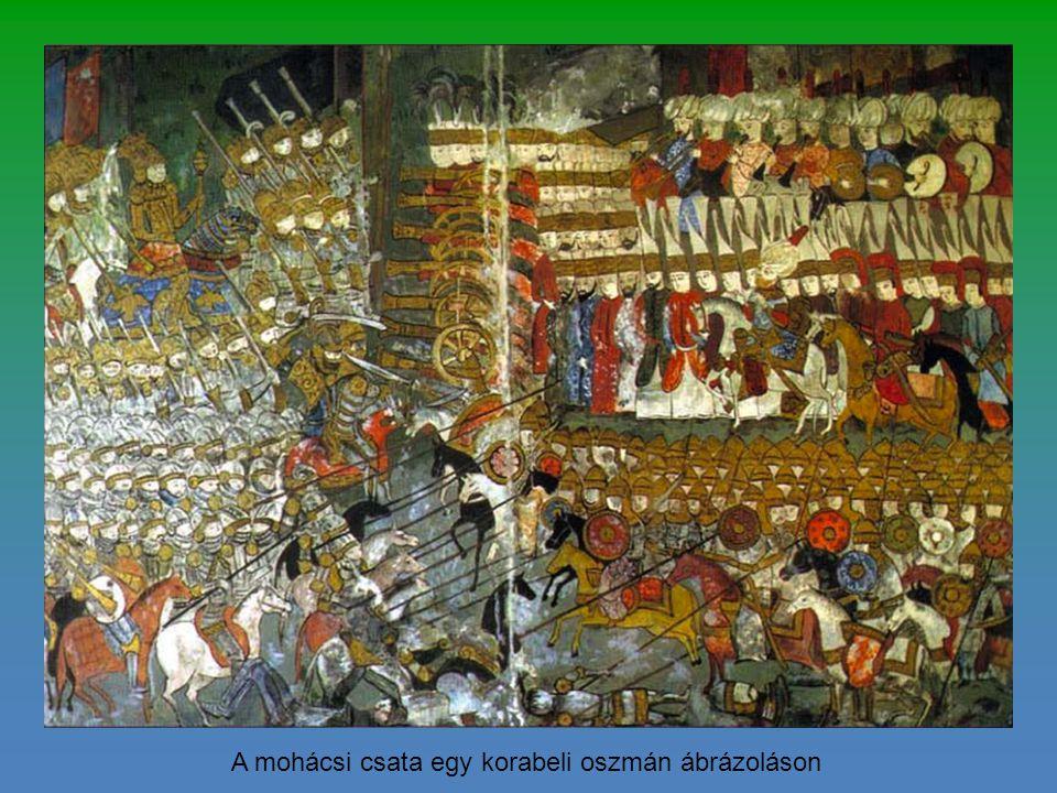 A mohácsi csata egy korabeli oszmán ábrázoláson