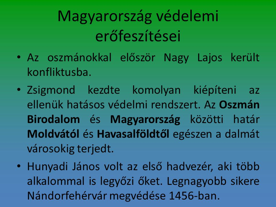 Magyarország védelemi erőfeszítései