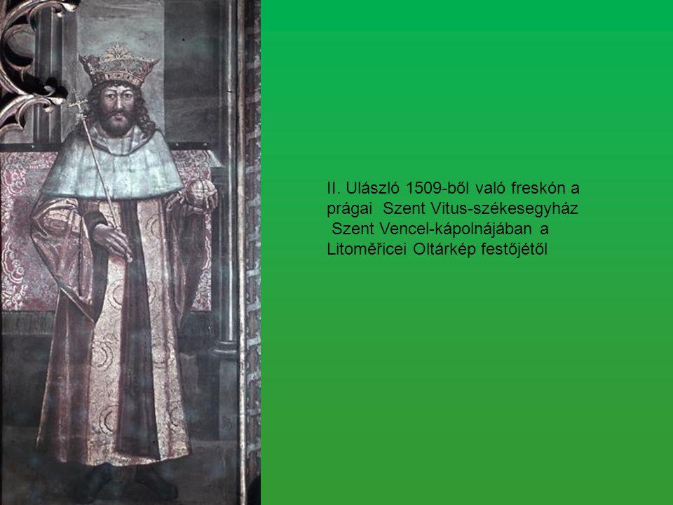 II. Ulászló 1509-ből való freskón a