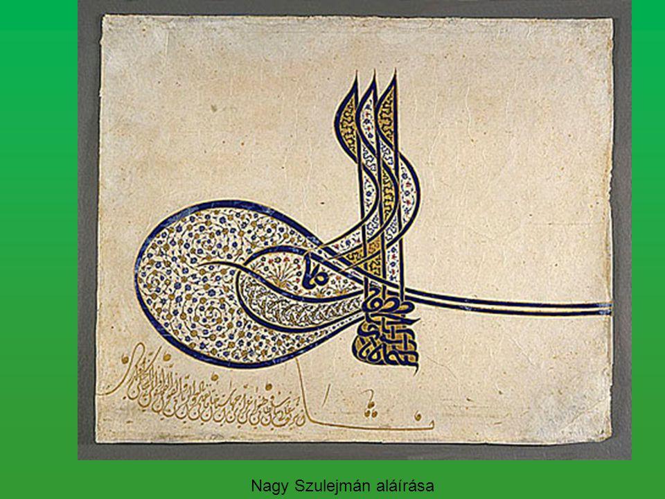 Nagy Szulejmán aláírása