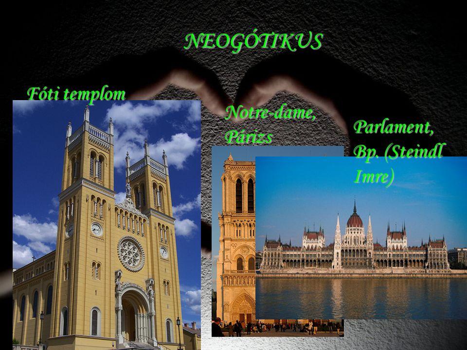NEOGÓTIKUS Fóti templom Notre-dame, Párizs