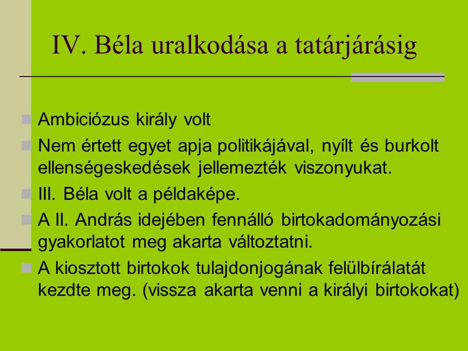 IV. Béla uralkodása a tatárjárásig