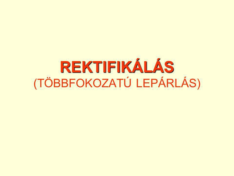REKTIFIKÁLÁS (TÖBBFOKOZATÚ LEPÁRLÁS)