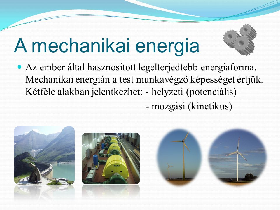 A mechanikai energia