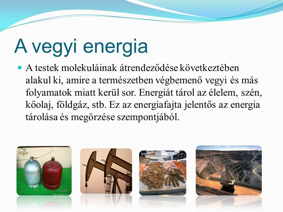 A vegyi energia