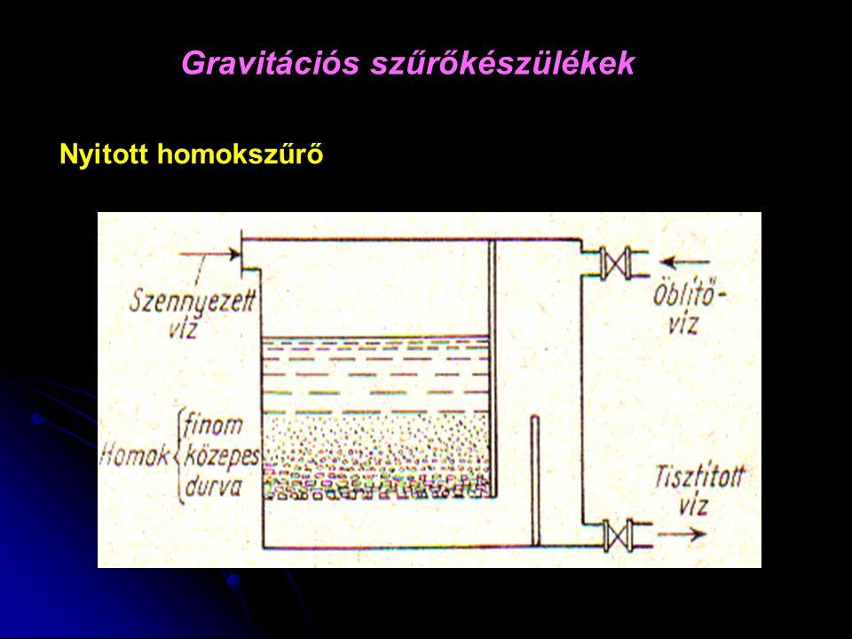 Gravitációs szűrőkészülékek