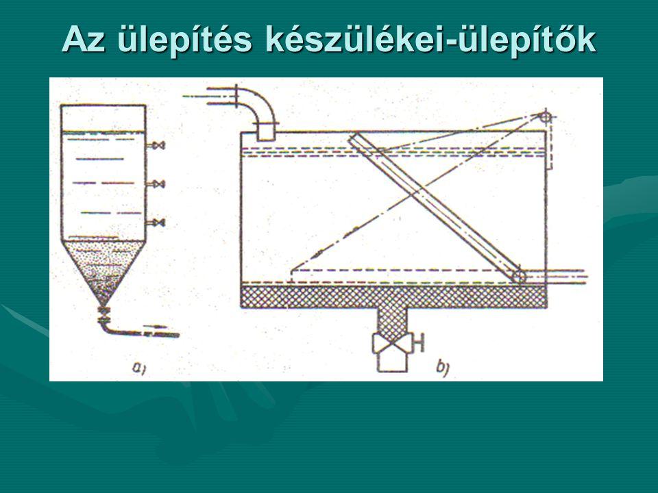 Az ülepítés készülékei-ülepítők