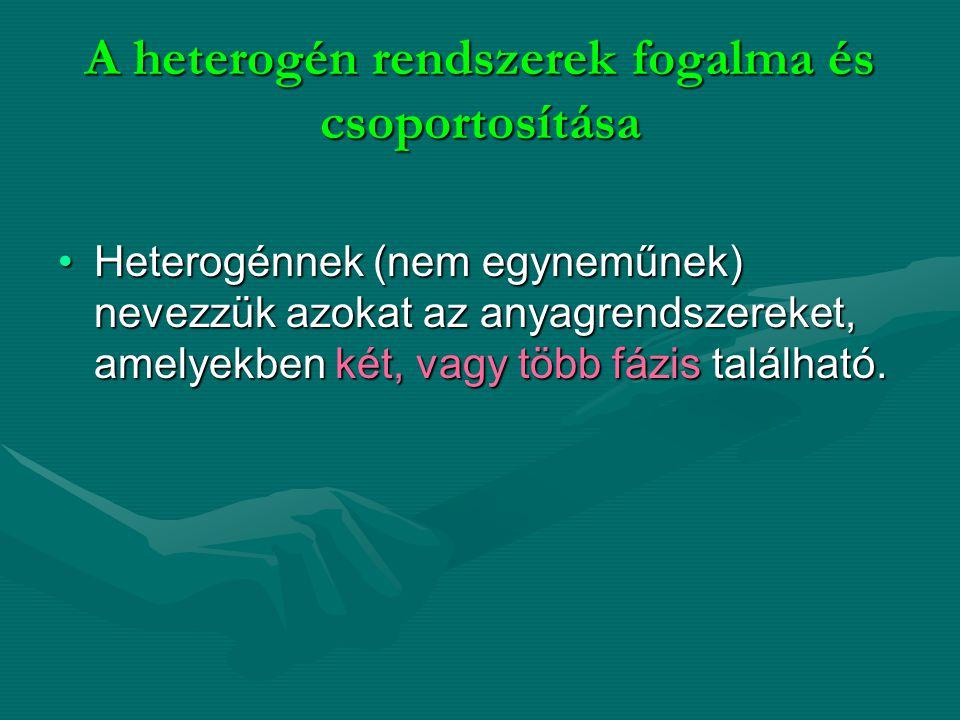 A heterogén rendszerek fogalma és csoportosítása