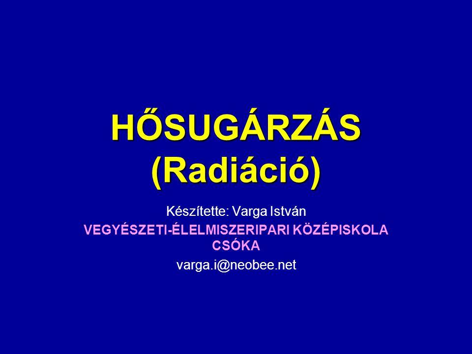 HŐSUGÁRZÁS (Radiáció)