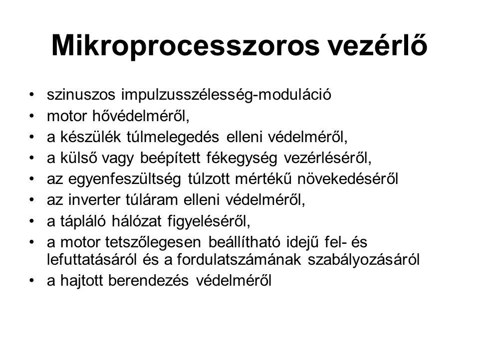 Mikroprocesszoros vezérlő