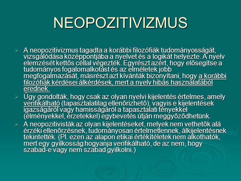 NEOPOZITIVIZMUS