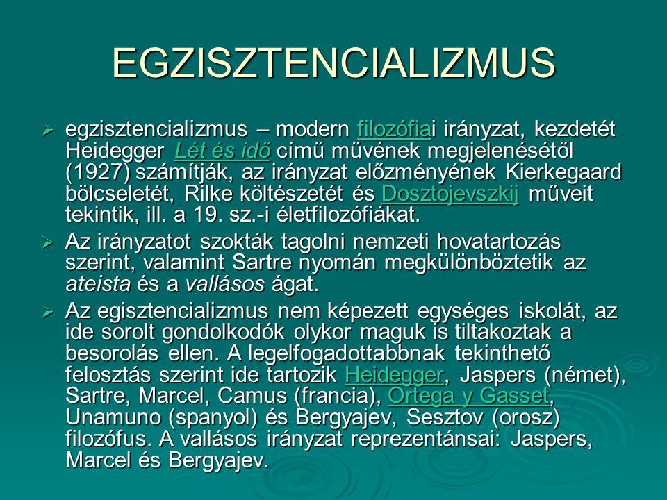EGZISZTENCIALIZMUS