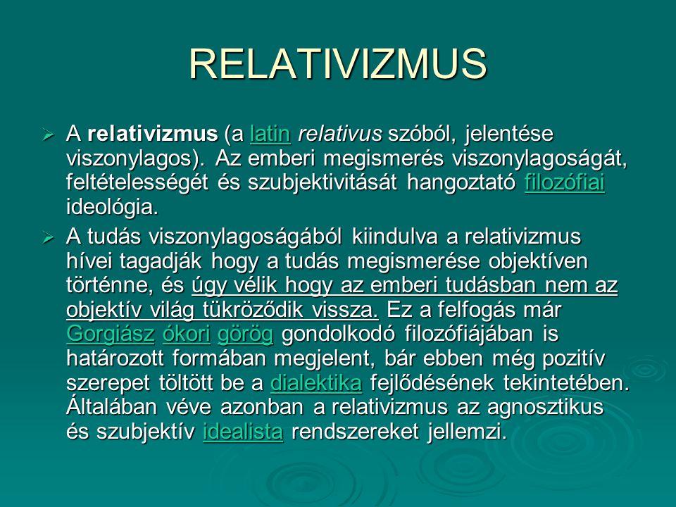 RELATIVIZMUS