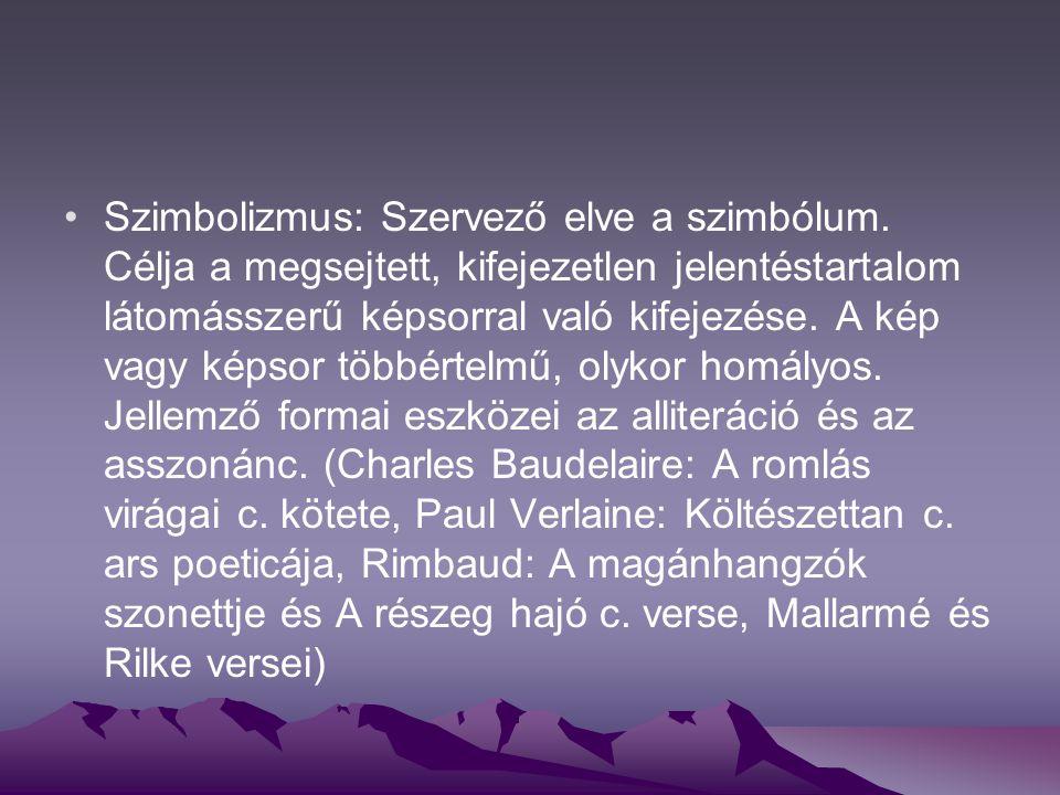 Szimbolizmus: Szervező elve a szimbólum