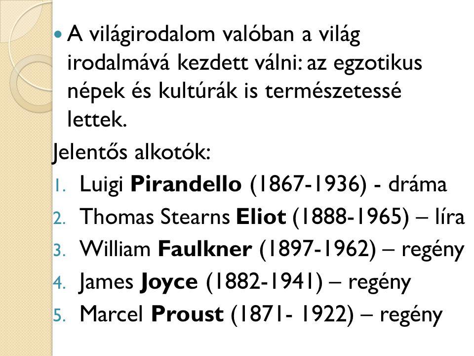 Luigi Pirandello (1867-1936) - dráma