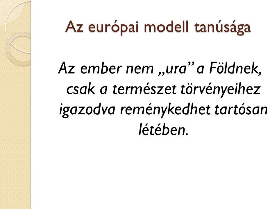 Az európai modell tanúsága