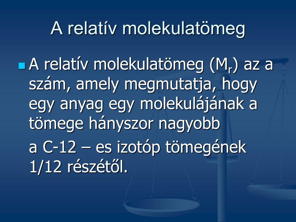 A relatív molekulatömeg