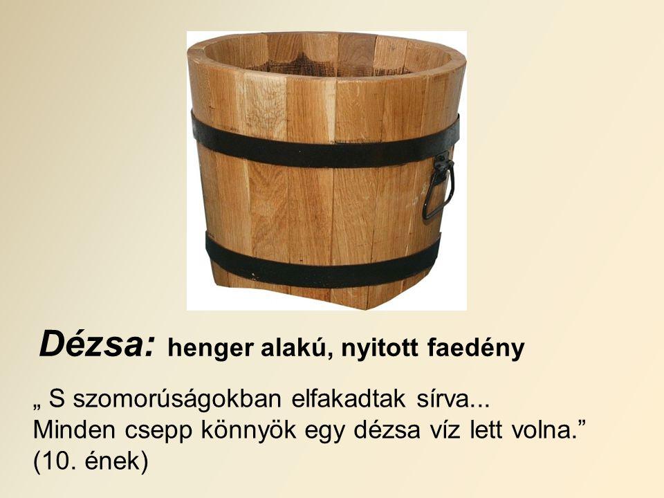 Dézsa: henger alakú, nyitott faedény