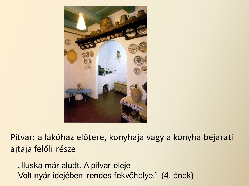 Pitvar: a lakóház előtere, konyhája vagy a konyha bejárati ajtaja felőli része