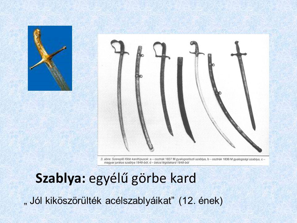 Szablya: egyélű görbe kard