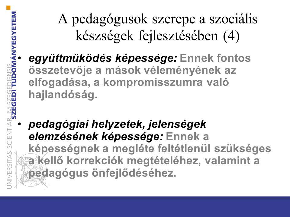 A pedagógusok szerepe a szociális készségek fejlesztésében (4)