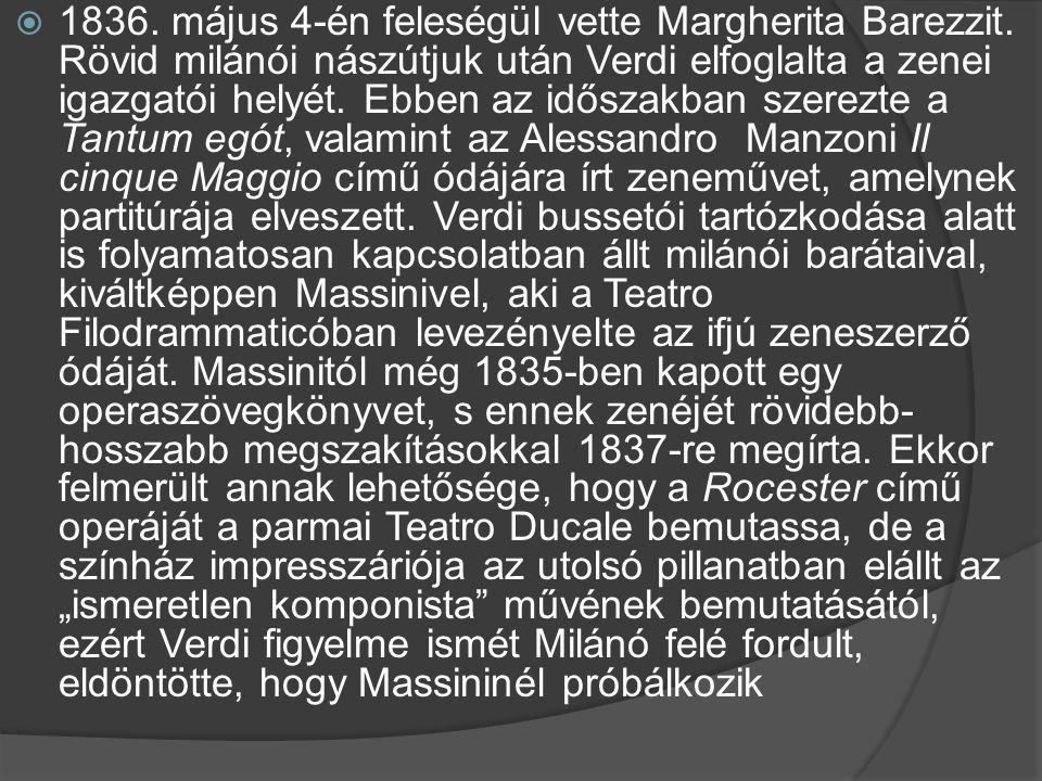 1836. május 4-én feleségül vette Margherita Barezzit