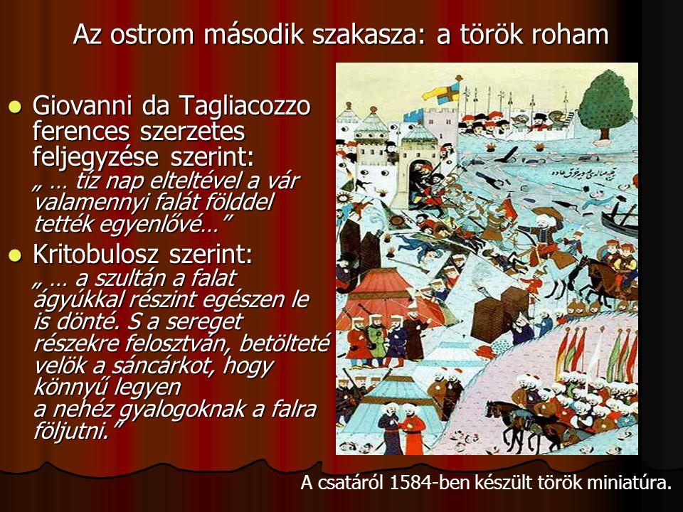 Az ostrom második szakasza: a török roham