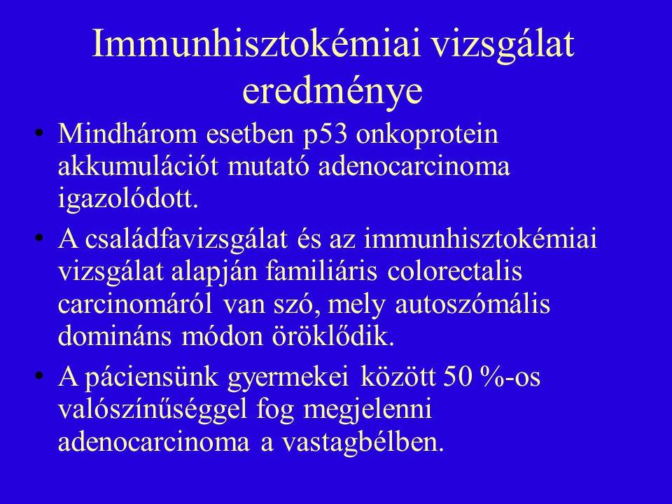 Immunhisztokémiai vizsgálat eredménye