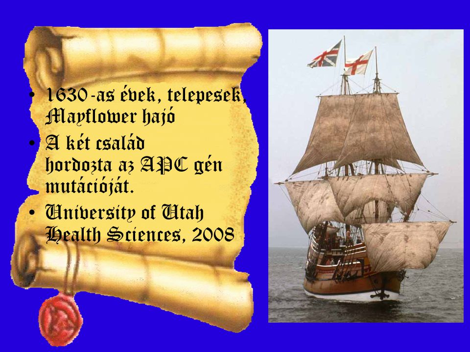 1630-as évek, telepesek, Mayflower hajó