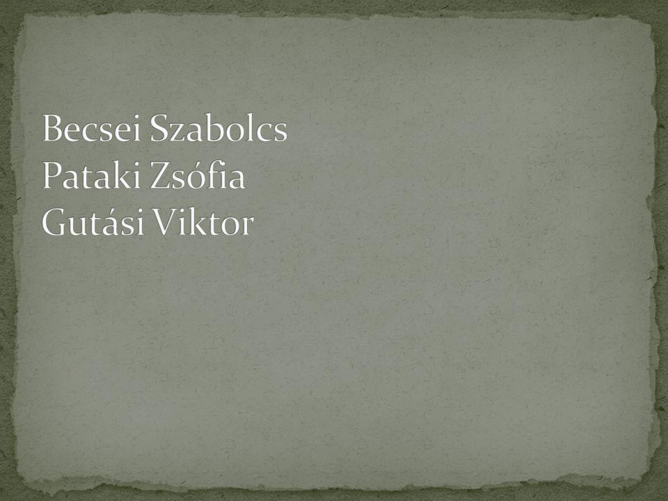 Becsei Szabolcs Pataki Zsófia Gutási Viktor