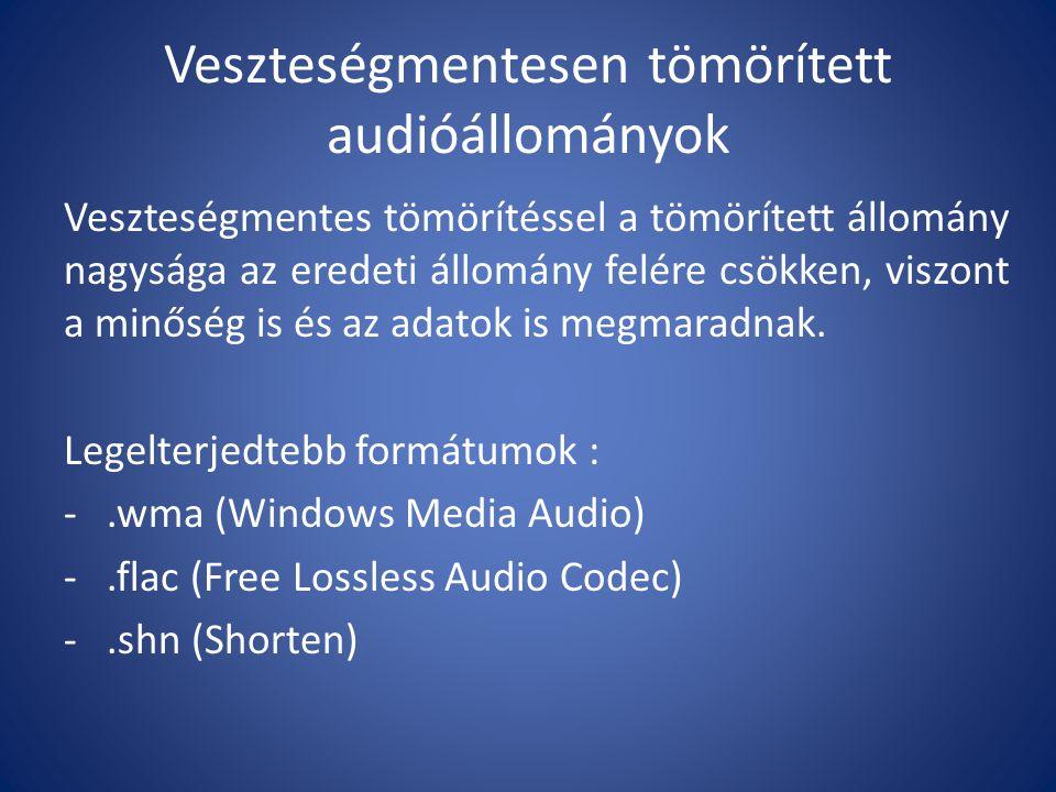 Veszteségmentesen tömörített audióállományok